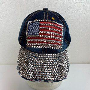 Accessories - Baseball  Cap Hat Denim Rhinestone American Flag